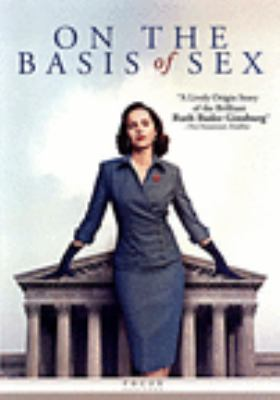 Cover of On the Basis of Sex. Young Ginsburg stands confidently