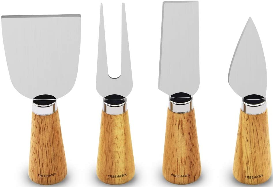 Free-hawk-4-pieces-set-cheese-knife-with-a-bamboo-wood-handle-stainless-steel-cheese-slicer