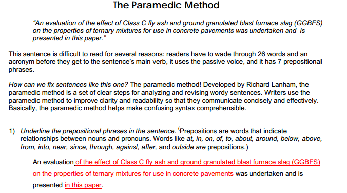 Paragraph And Sentence Concise Writing English
