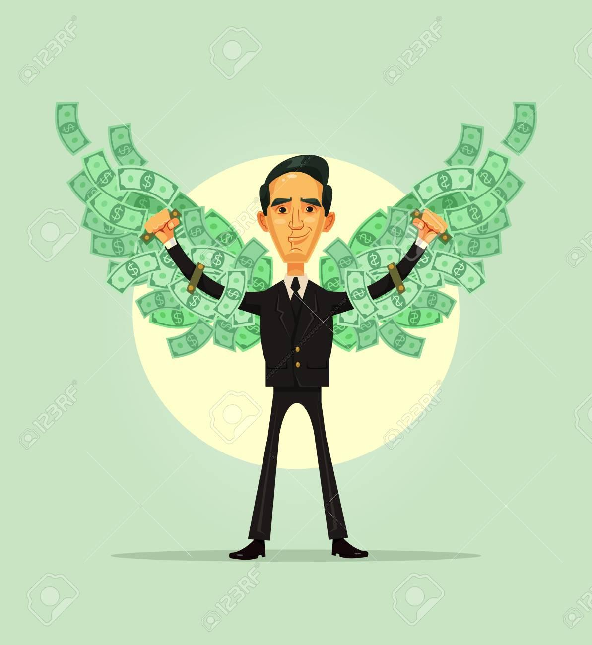 Happy Smiling Rich Business Worker. Financial Independence Concept ...