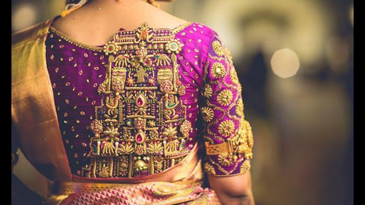 Ethnic Blouse back design