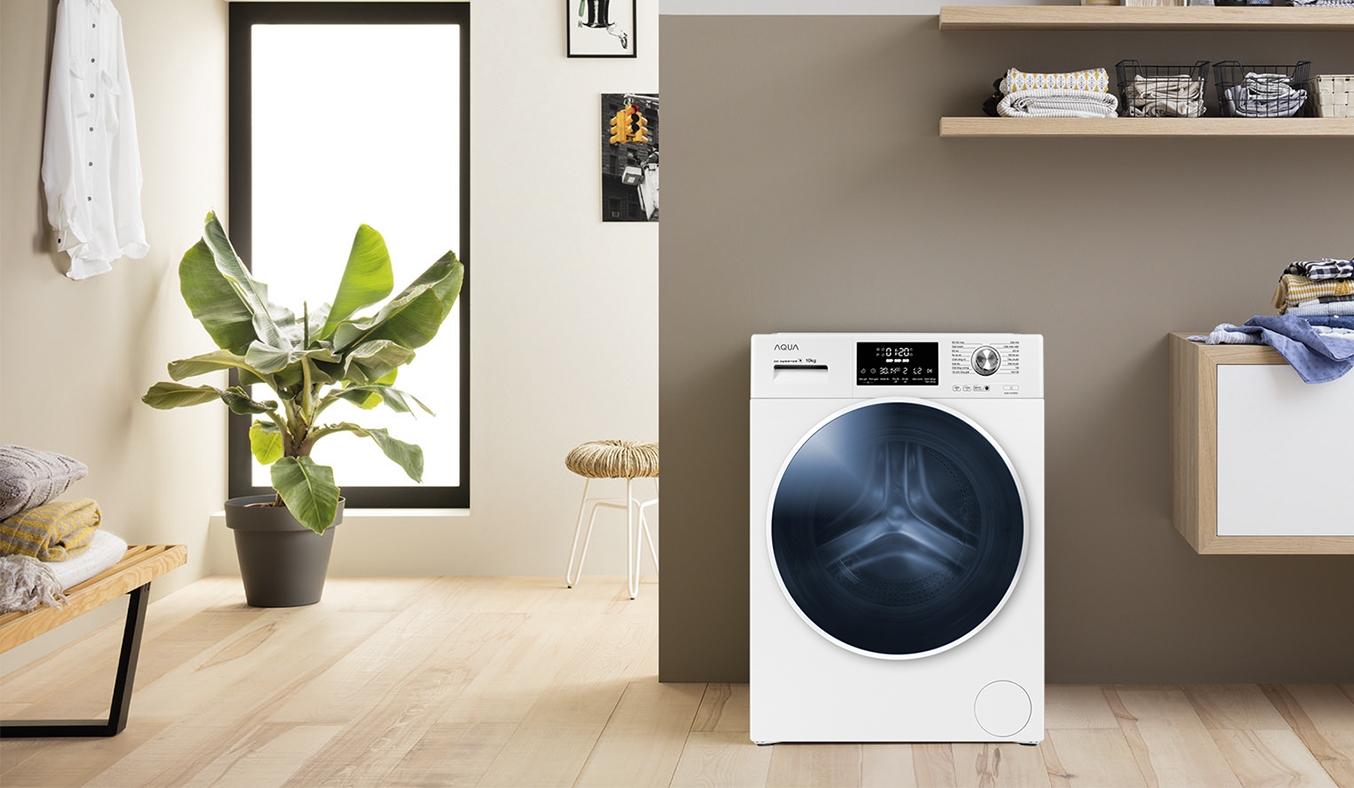 Máy giặt AQUA Inverter 9 Kg AQD-D900F.W