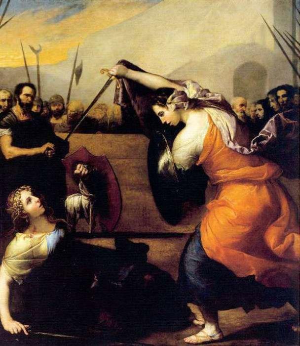 Хосе де Рибера. Женская дуэль, 1636