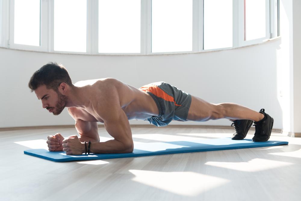 Tư thế Plank cơ bản - Bài tập yoga giảm béo bụng