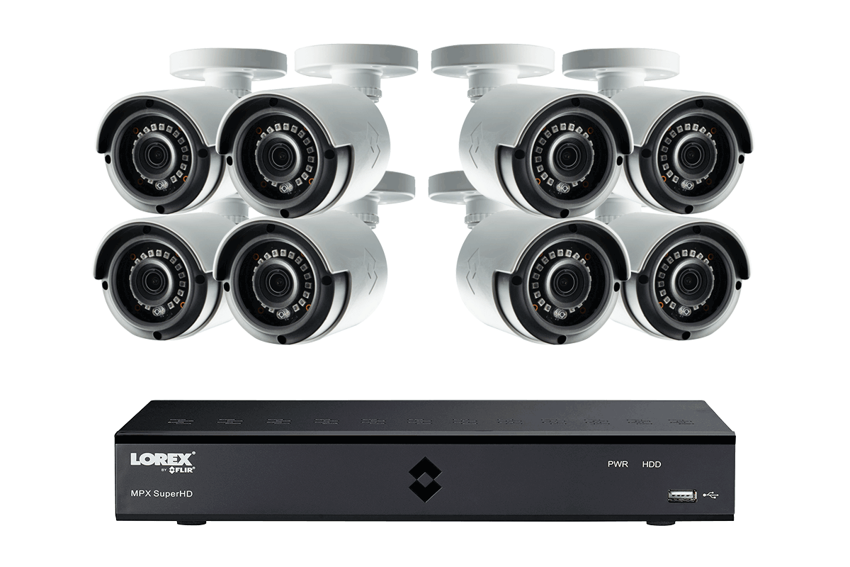 MPX2K88 Super HD 2K home or business security system