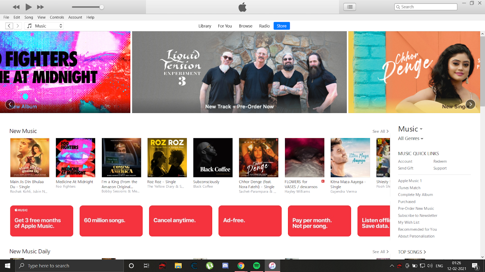 iTunes Homepage - change your apple id email address
