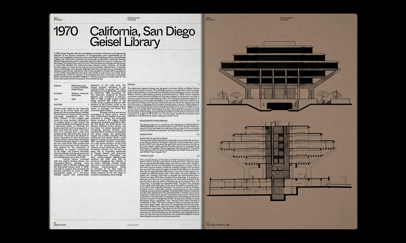 Editorial Design : New Brutalism Controversial Concrete 15
