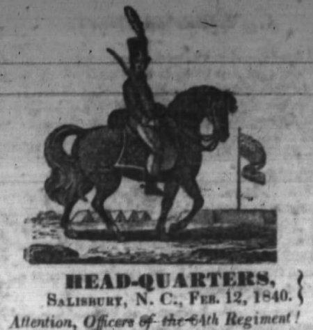 NC Militia Officer 1840