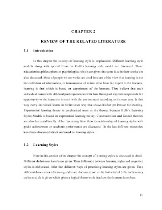 Review Of Related Literature