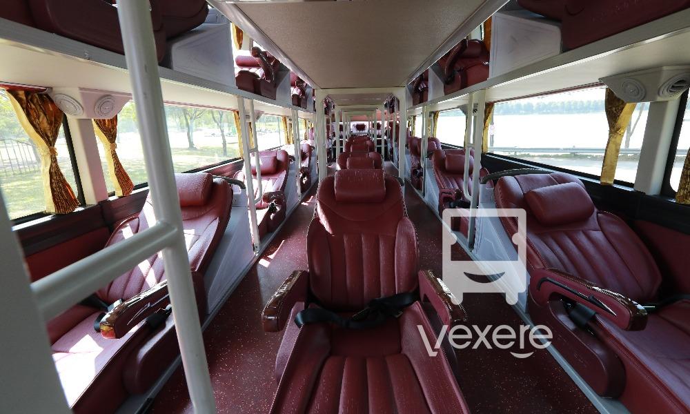 Nội thất xe Green Bus đi Sapa từ Hà Nội