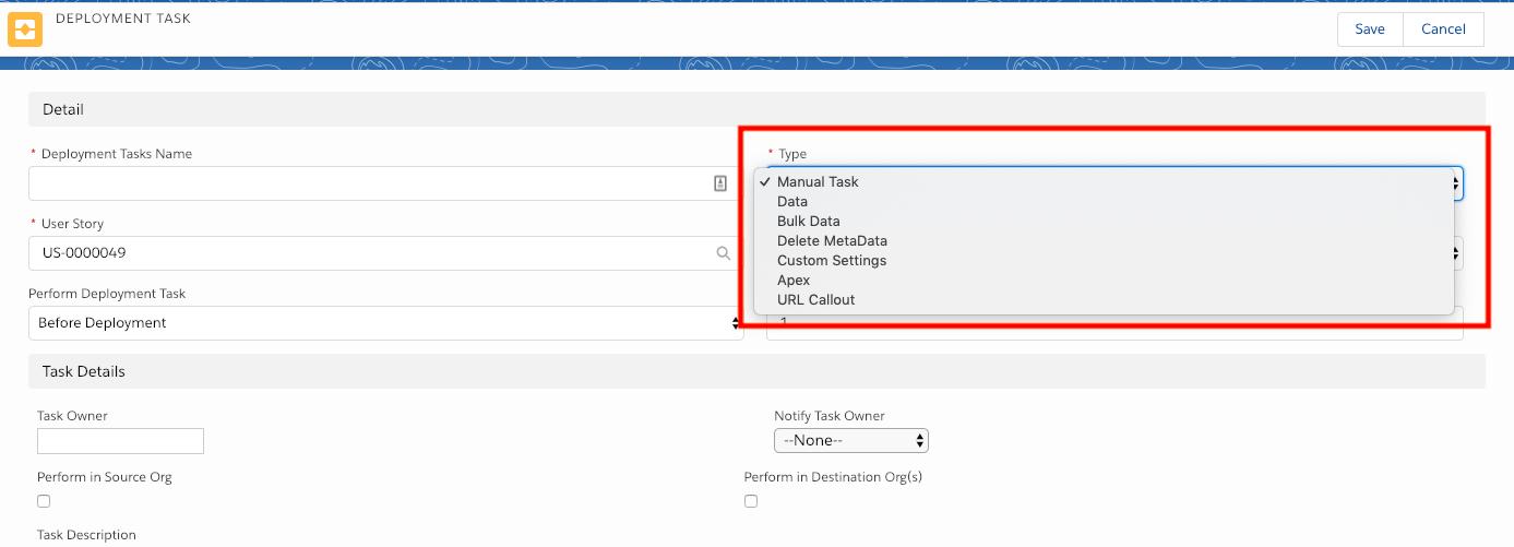 User Stories - Deployment Tasks - Copado Solutions Documentation