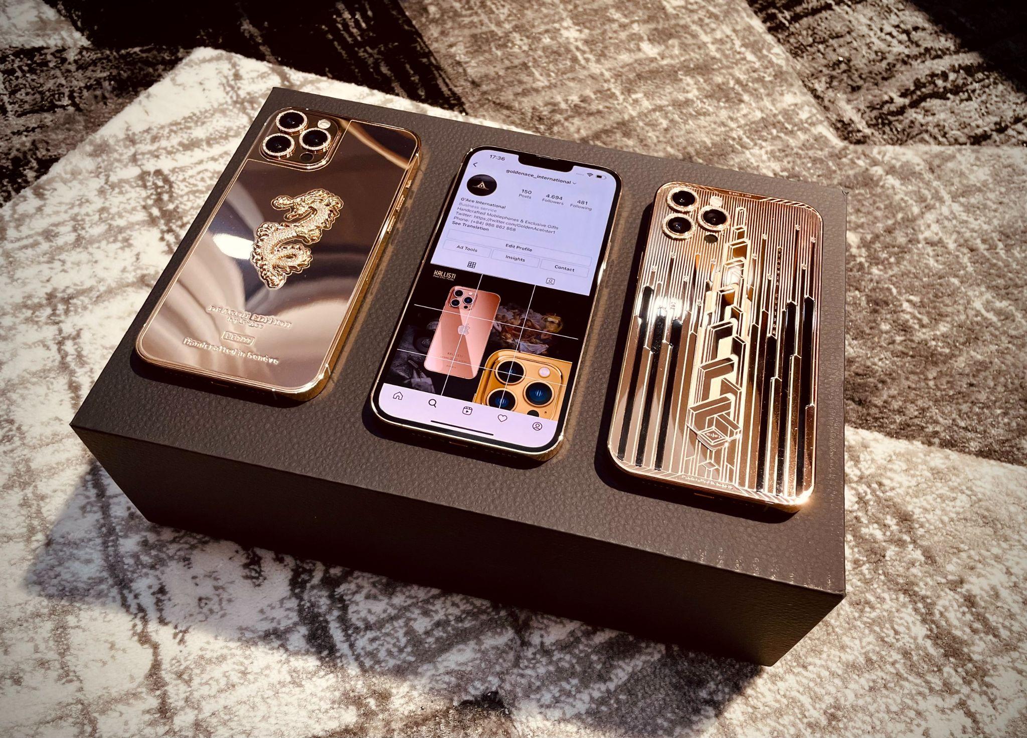 """Chi tiết iPhone 13 Pro Max bản mạ vàng và kim cương siêu """"sang chảnh"""" giá hơn 130 triệu đồng tại Việt Nam - Ảnh 8."""