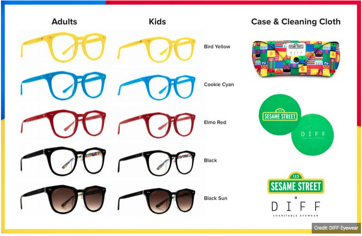 Diff Eyewear and Sesame Street Collab
