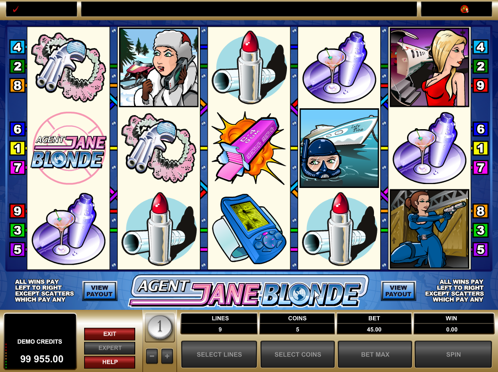 Agent Jane Blonde Slots Game Review