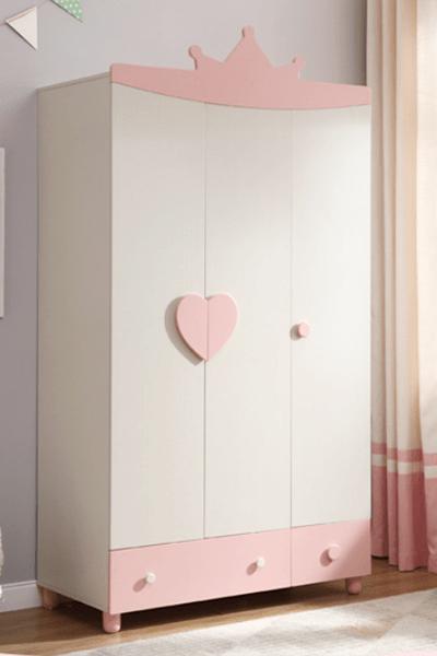 Tủ quần áo bé gái bằng gỗ công nghiệp GHS-5522