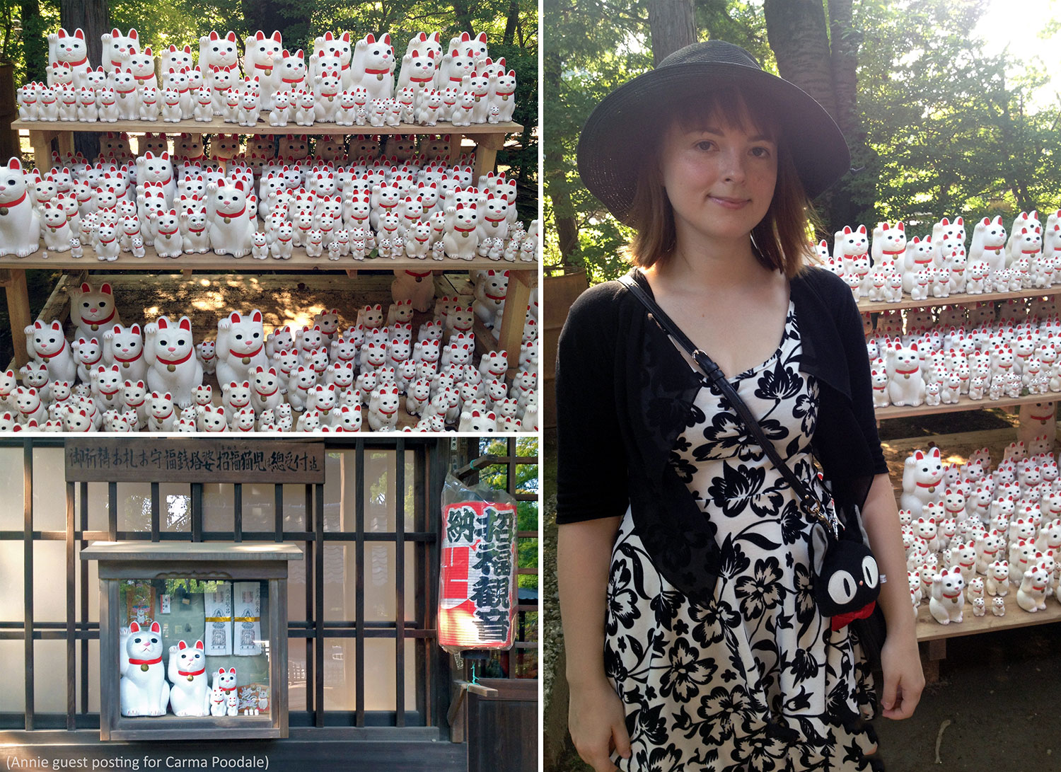 Annie at the Gotokuji temple