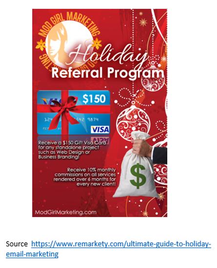 Holiday referral program