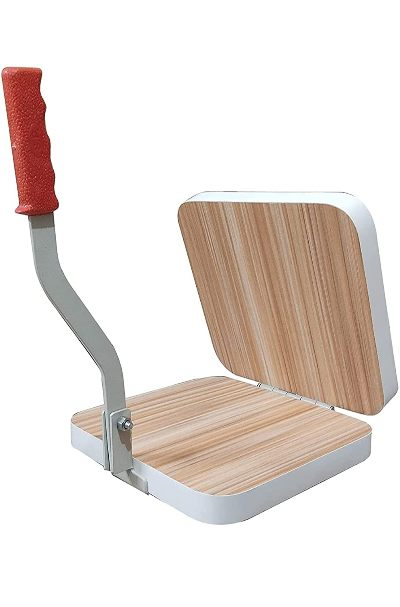 Heavy Square Wooden Board Papad-Puri Press