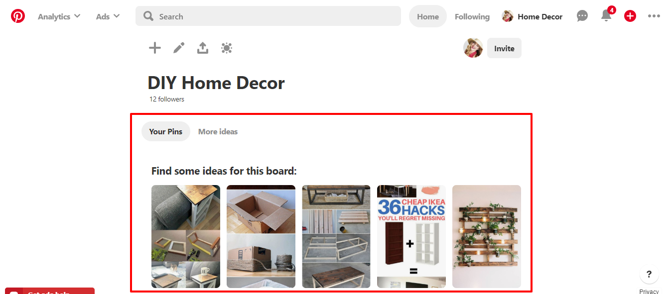 Pinterest Affiliate Marketing example