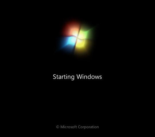 Khởi động hệ điều hành windows