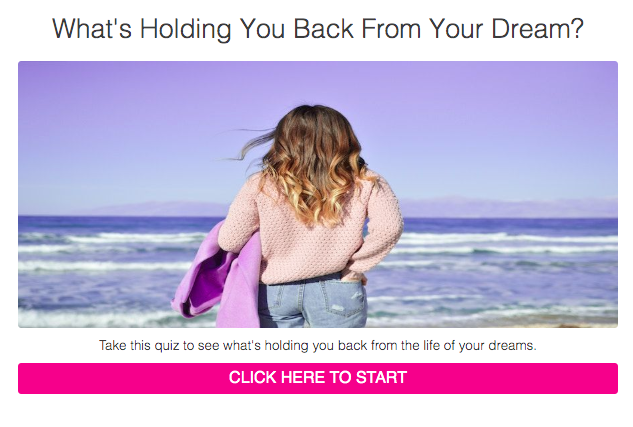 What's holding your back from your dream? quiz cover