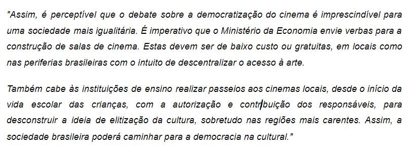 Exemplo - Escrito por Ana Clara Socha na edição do ano 19 deste milênio