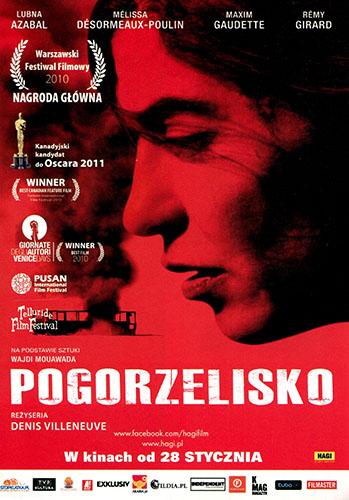 Przód ulotki filmu 'Pogorzelisko'