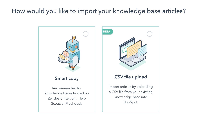 HubSpot Produktaktualisierungen Mai 2021: Verbesserungen beim Import und Export von Wissensdatenbanken