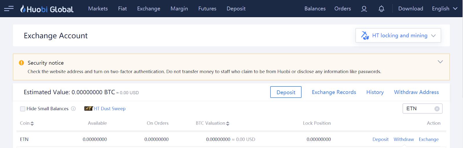 How to Deposit ETN toBiKi