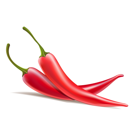 Two chili peppers