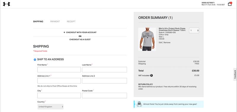 ecommerce product badging notifications at checkout