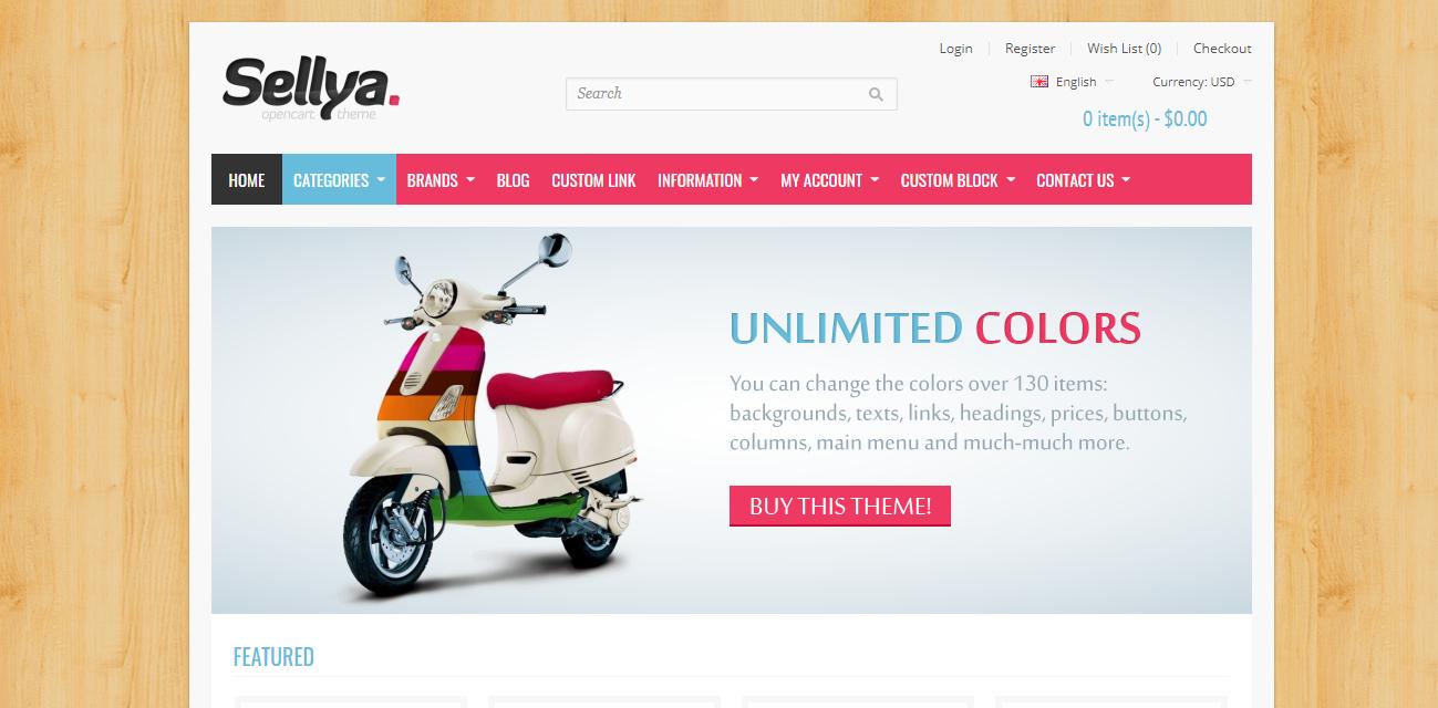 Sellya - Opencart theme