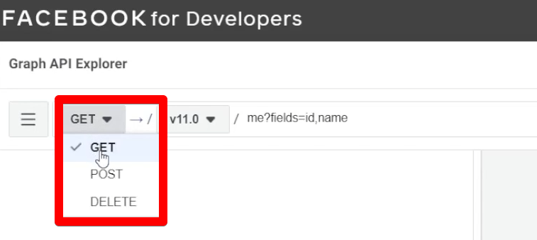 Get, Post, and Delete requests in Facebook Graph API Explorer