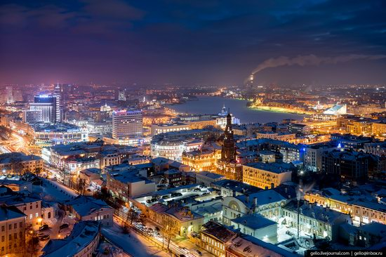 Winter in Kazan, Russia - the view from above, photo 1