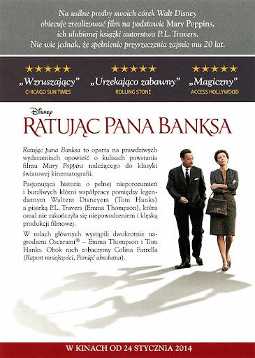 Tył ulotki filmu 'Ratując Pana Banksa'