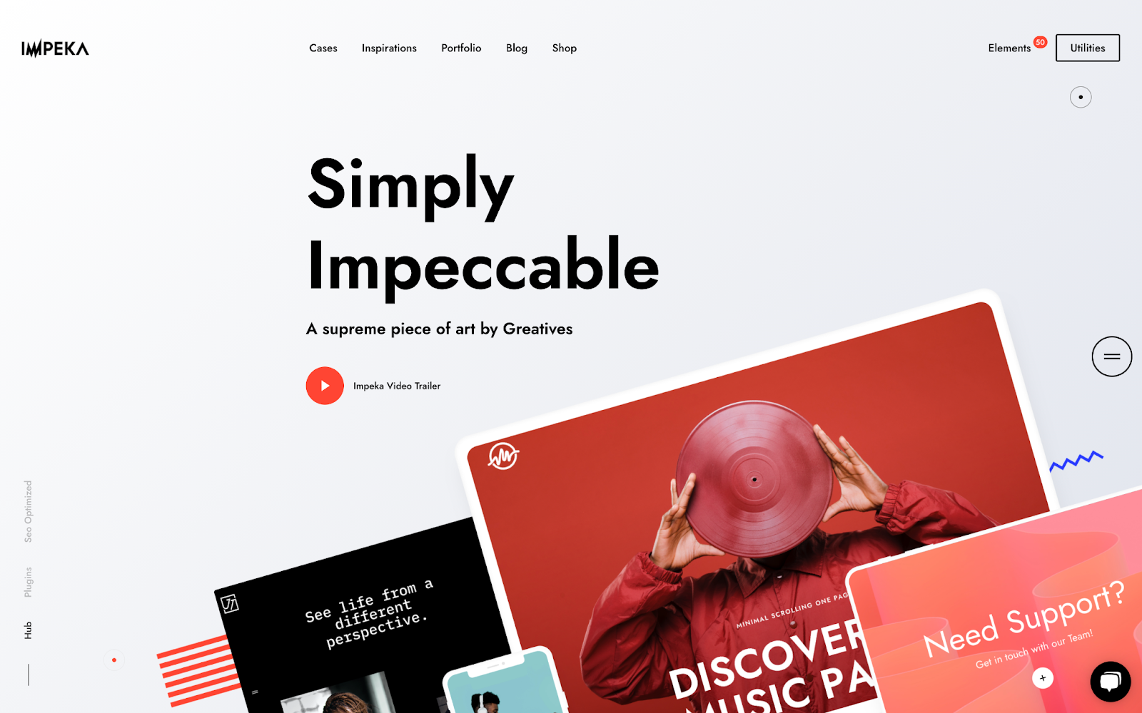 demo of the wordpress multipurpose theme impeka