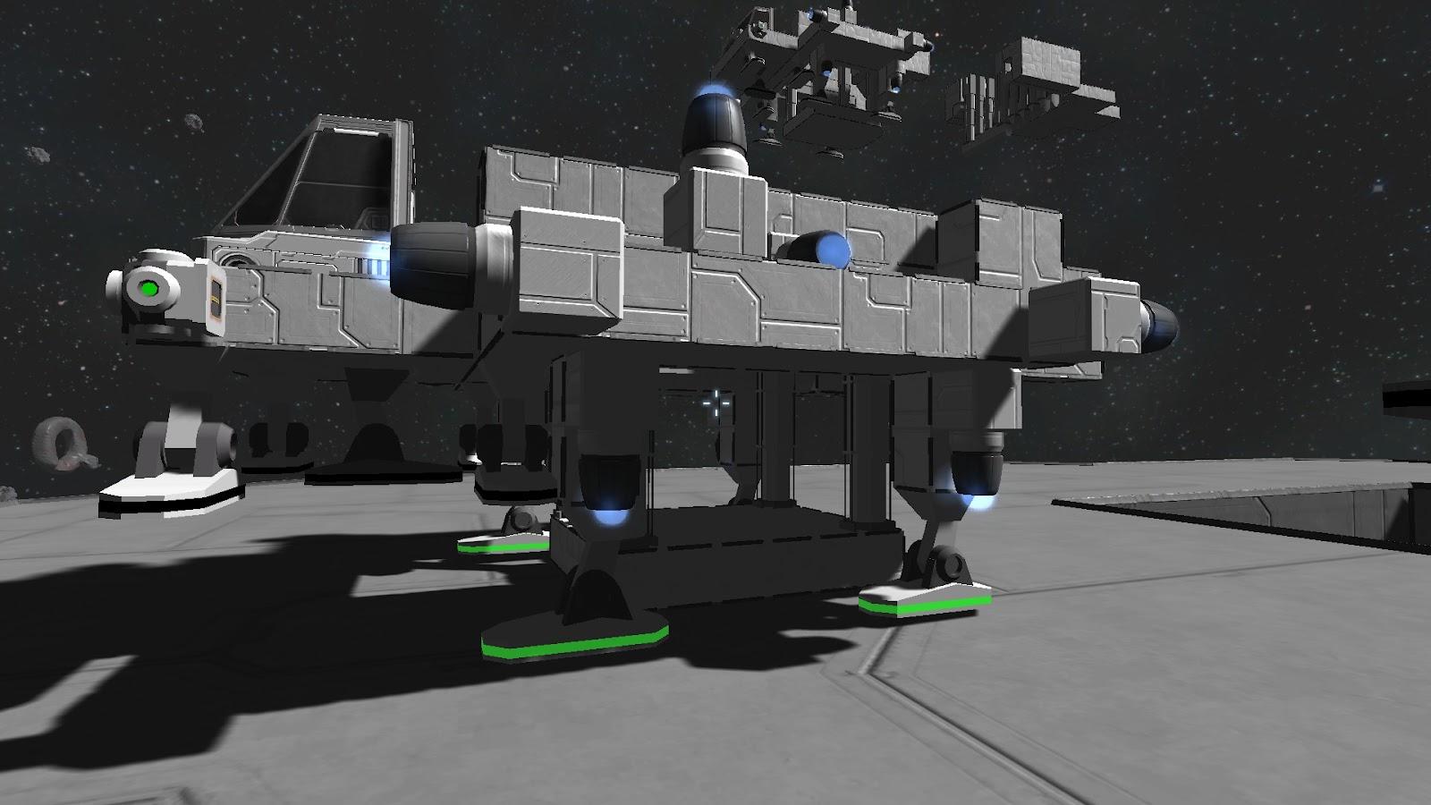 Space Engineers - Piston powered lift