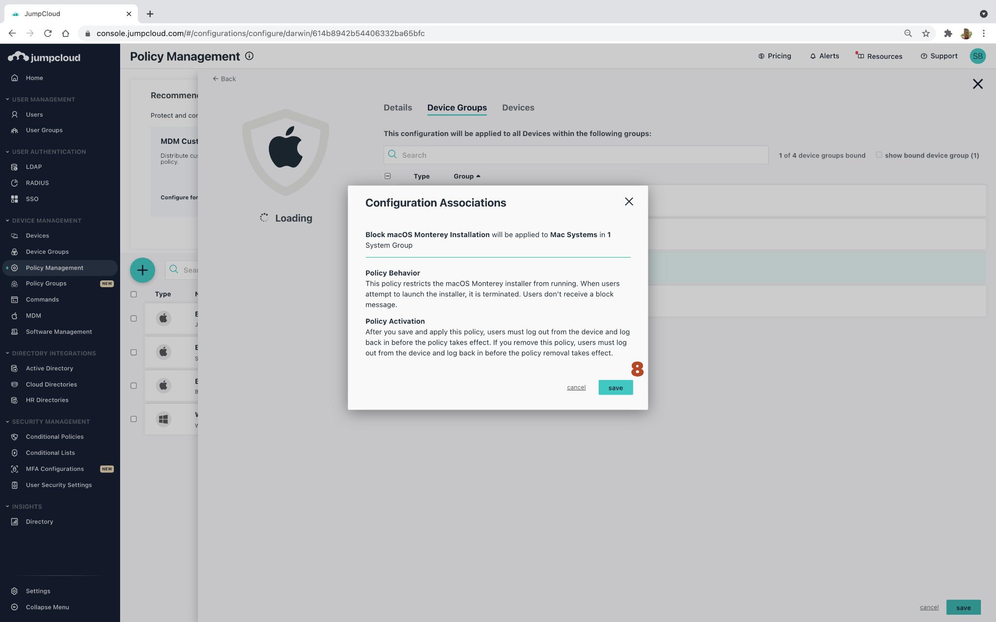 How to Block MacOS 12 Monterey Using JumpCloud Policies