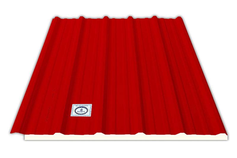 Sắc đỏ của tôn 6 sóng Olympic chống cháy