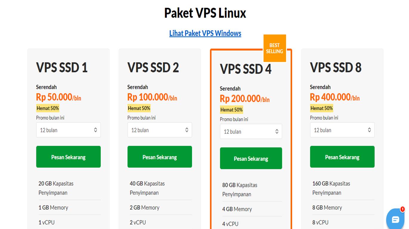 7 Langkah Mudah Order Layanan VPS Exabytes - 2020