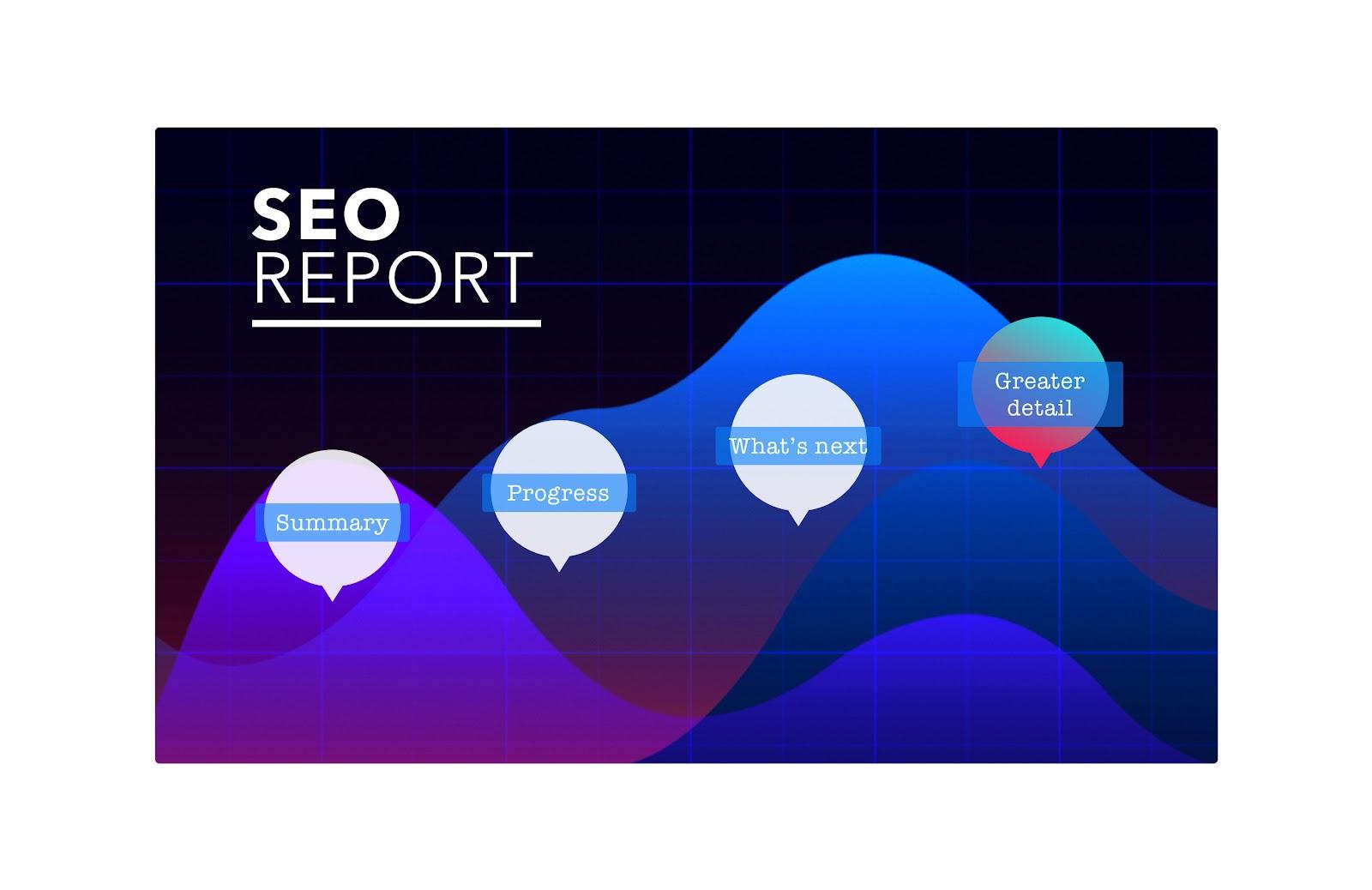 An example of an SEO report Prezi presentation.