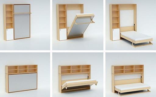 Giường ngủ thông minh giải phóng nhiều diện tích cho căn phòng