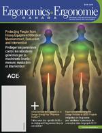 Ergonomics Ergonomie Canada 2012 issue cover image