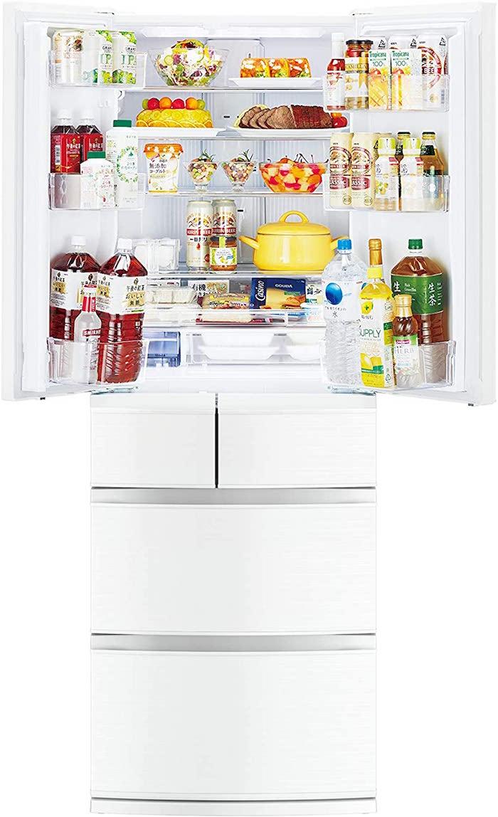 三菱電機 冷蔵庫MR-R46E-W