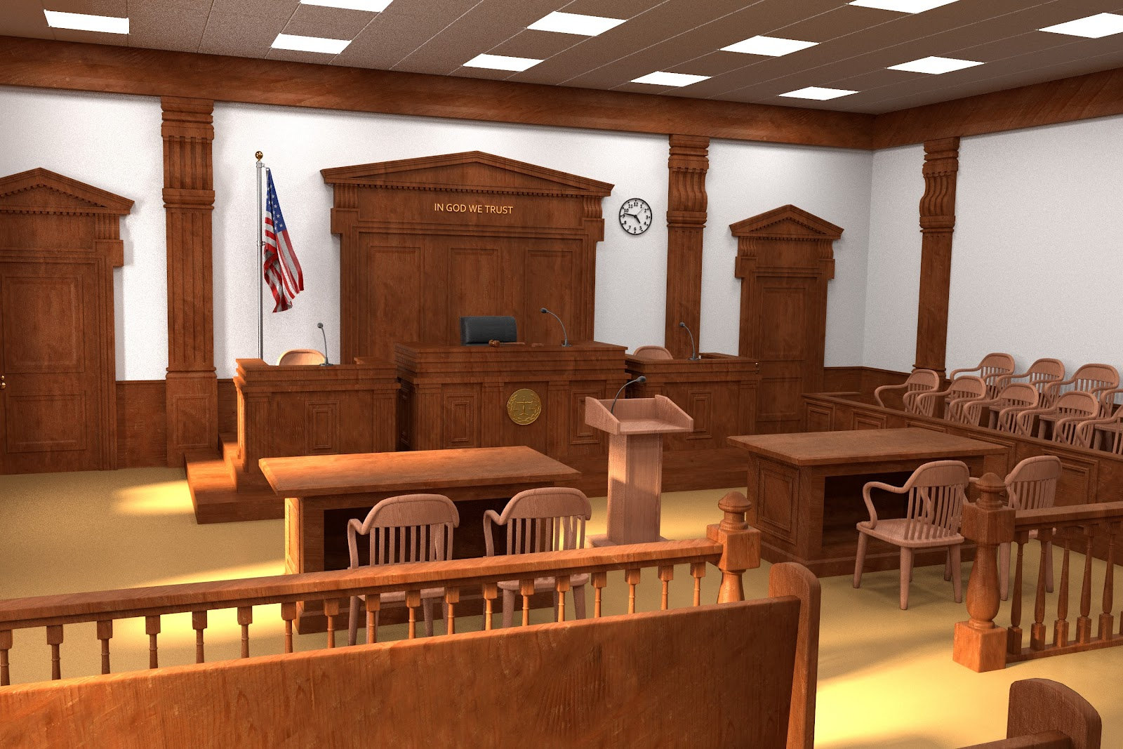 a US courtroom