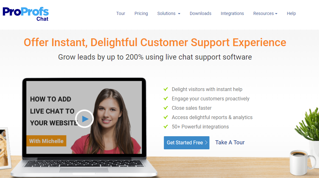 Delightful customer support experence with proprofs live chat software