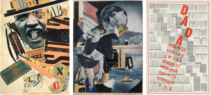 Examples of famous Dadaism artworks.