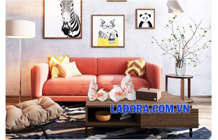 Đồ trang trí phòng khách đẹp tại ladora shop hà nội