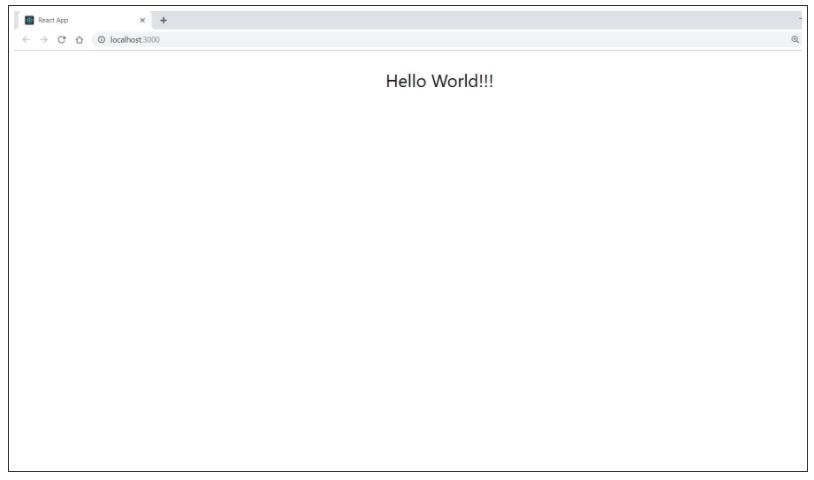 Create Hello World React App