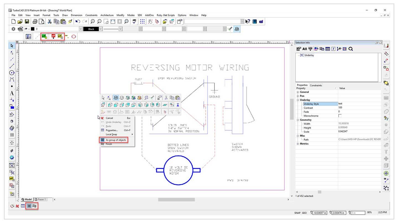 PDF / Insert / Underlay - TurboCAD via IMSI Design